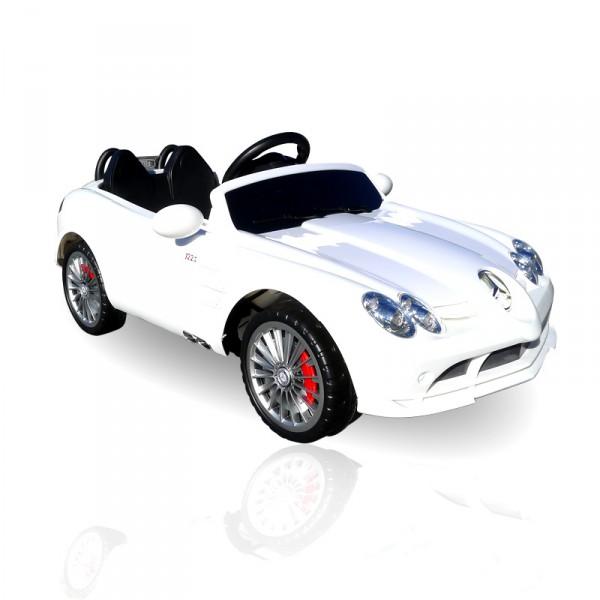Kinderauto elektrisch - Mercedes SLR mit Fernbedienung und Sound – Bild 15