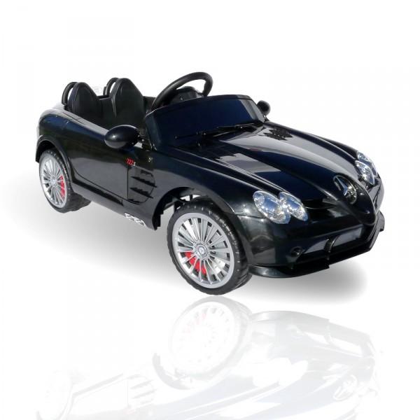 Kinderauto elektrisch - Mercedes SLR mit Fernbedienung und Sound – Bild 2