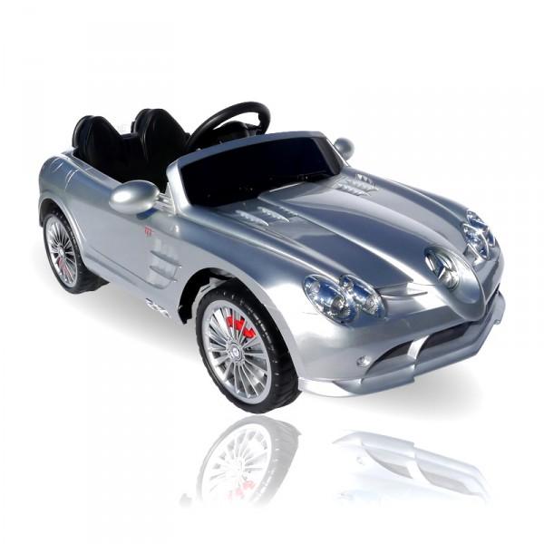 Kinderauto elektrisch - Mercedes SLR mit Fernbedienung und Sound