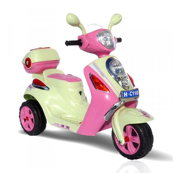 Elektrischer Kinderroller für Mädchen -  Pink Scootey