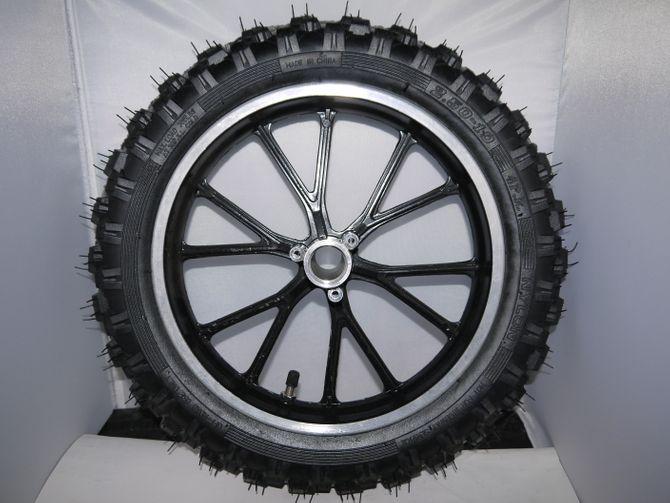 Reifen + Felge 2.5-10  10 Zoll Crossprofil für Mini Crossbike und E-Scooter - 10 Zoll Komplettrad