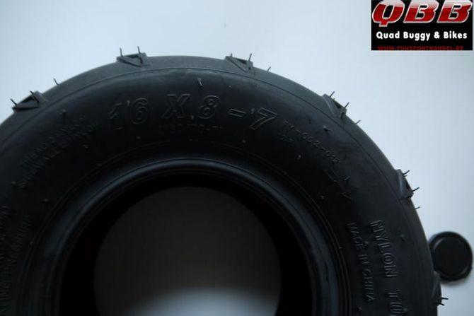 Quad Reifen 16x8-7 - 7 Zoll Mantel für Kinderquad - Quad Atv - Offroad Profil - Pfeil