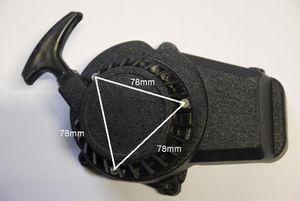Seilzugstarter mit Easy-Pull Funktion für 50 ccm 2 Takt Motor