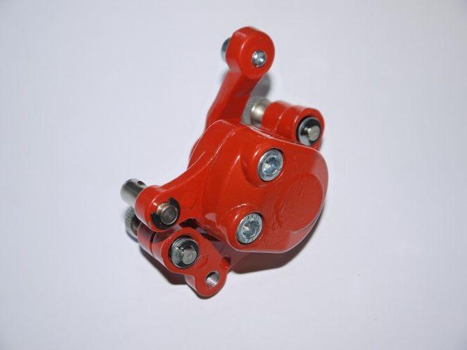 Bremssattel inkl. Belag für Kinderquad / Dirtbike / Pocketbike in Farbe ROT