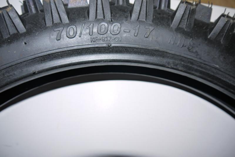 Dirtbike-Reifen 70/100-17 Zoll - Vorne - Offroadprofil Dirtbike 125cc – Bild 2