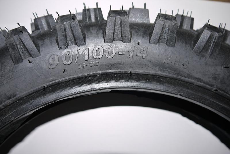 Reifen 90/100-14 14 Zoll Offroadprofil Cross Dirtbike 125cc  – Bild 2