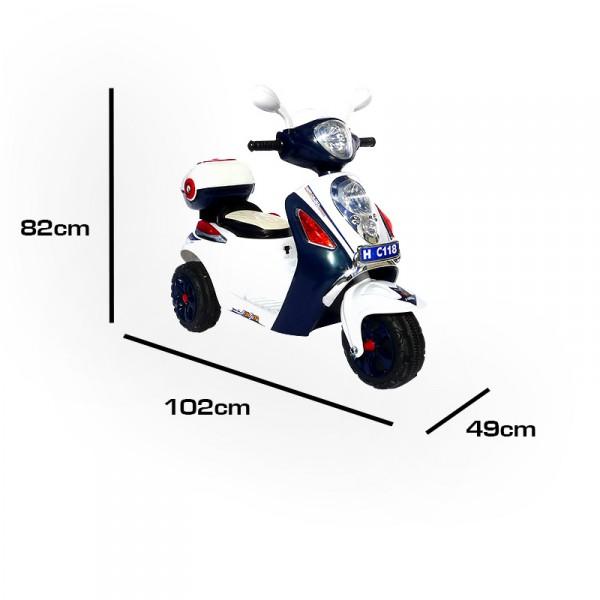 Elektroroller für Kinder - elektrischer Kinderroller Blue Scooty – Bild 5