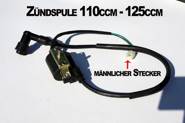 Zündspule für 110ccm - 125ccm Quad - männlicher Stecker