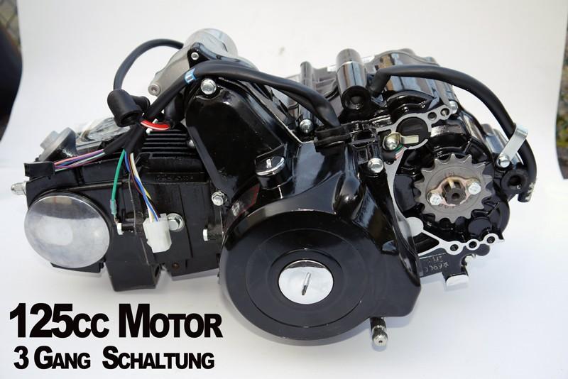 Kinderquad Motor 125 ccm Quad Motor 3 Gang Schaltung + Rückwärtsgang – Bild 1