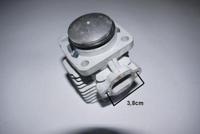 Zylinderkopf / Zylinder für Kinderquad / Pocketbike - 50ccm 2 Takt Motor -