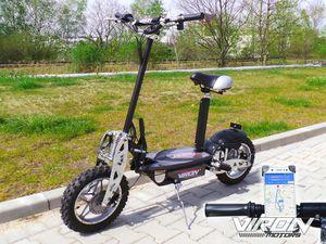 E-Scooter / Elektro-Roller mit 1000 Watt + 10 Zoll Reifen + 2 Stufen Drossel 001