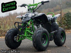 Sporty 1 RG Kinderquad 125ccm mit Rückwärtsgang - Fernbedienung - Drossel - Jetzt mit Fußbremse  001