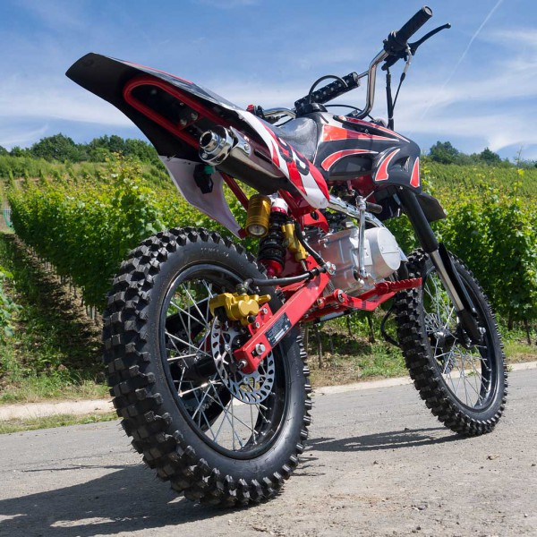 dirtbike 125ccm cross bike mit 17 14 bereifung 4takt limited pocket bike dirtbike. Black Bedroom Furniture Sets. Home Design Ideas