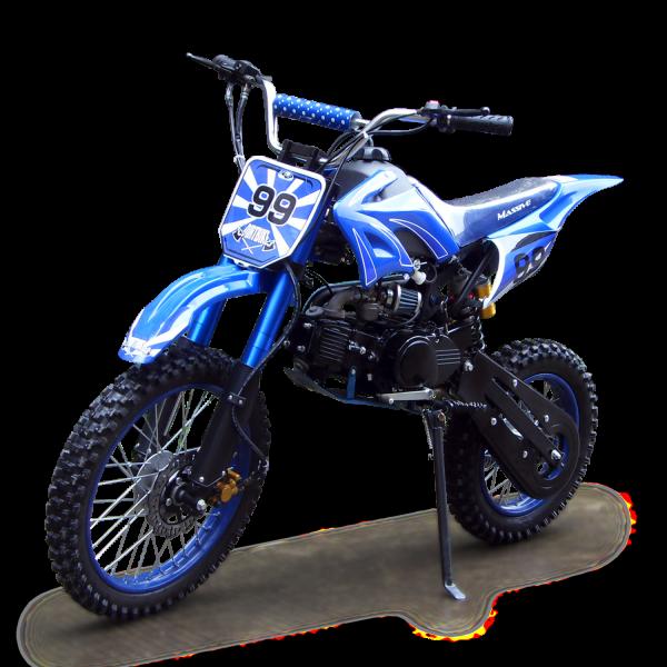 Dirtbike 125ccm Cross Bike mit 17/14 Bereifung - 4Takt - blau – Bild 2