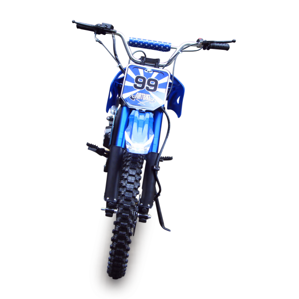 Dirtbike 125ccm Cross Bike mit 17/14 Bereifung - 4Takt - blau – Bild 5