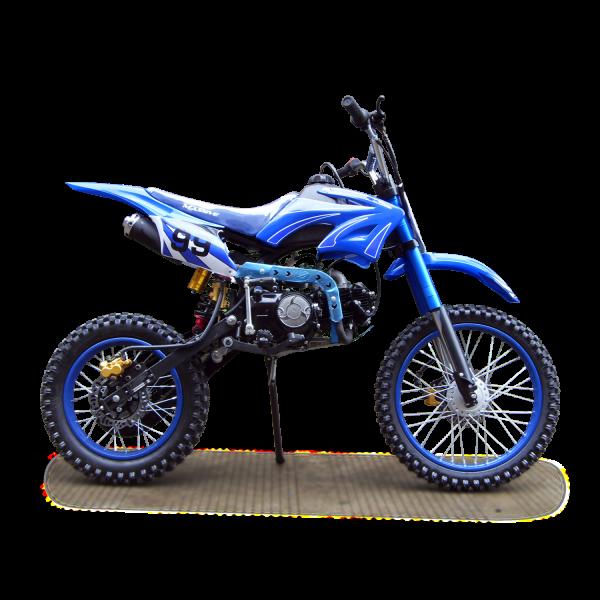 Dirtbike 125ccm Cross Bike mit 17/14 Bereifung - 4Takt - blau