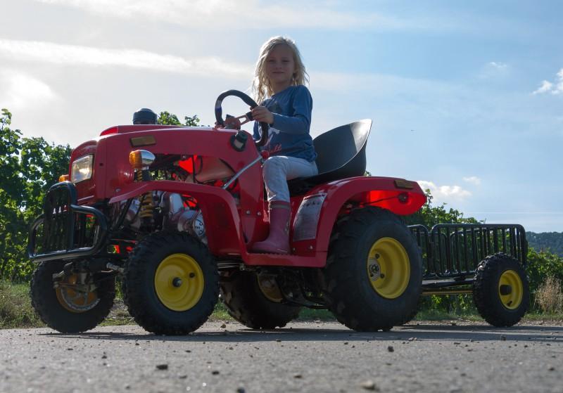 Kindertraktor - Traktor für Kinder 110ccm 4 Takt Motor + Anhänger
