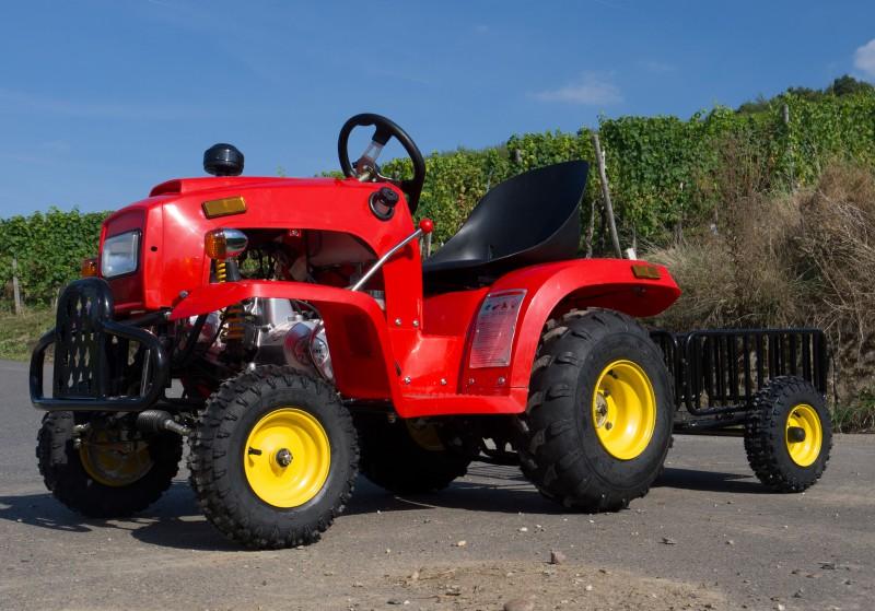 Kindertraktor - Traktor für Kinder mit 110ccm 4 Takt Motor + Anhänger – Bild 8