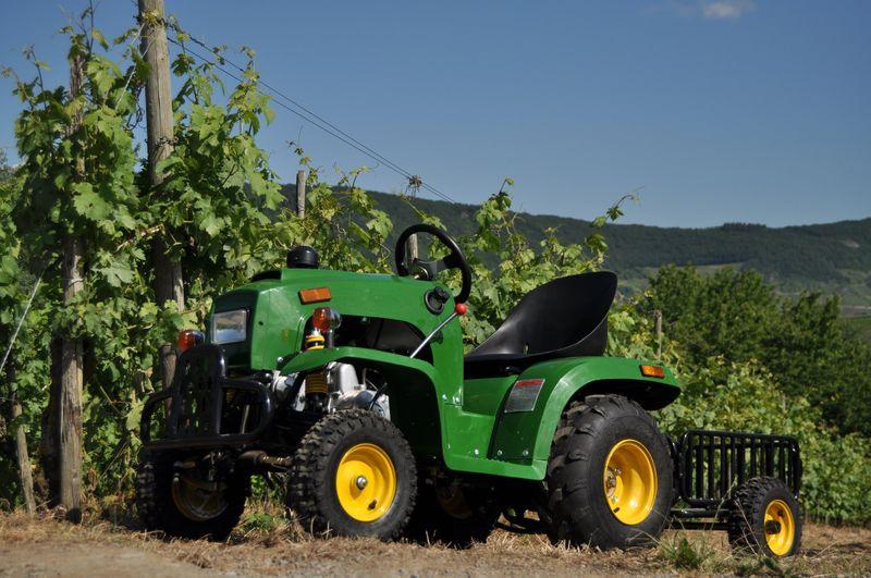 Kindertraktor - Traktor für Kinder mit 110ccm 4 Takt Motor + Anhänger – Bild 1