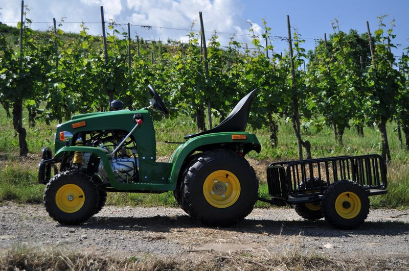 Kindertraktor - Traktor für Kinder mit 110ccm 4 Takt Motor + Anhänger – Bild 3