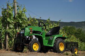 Kindertraktor - Traktor für Kinder mit 110ccm 4 Takt Motor + Anhänger