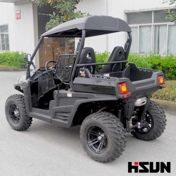 UTV HS 800 von Hisun -  inkl. Anhängerkupplung - Schwarz - LOF - Traktorzulassung 40 KM/H Zugmaschine