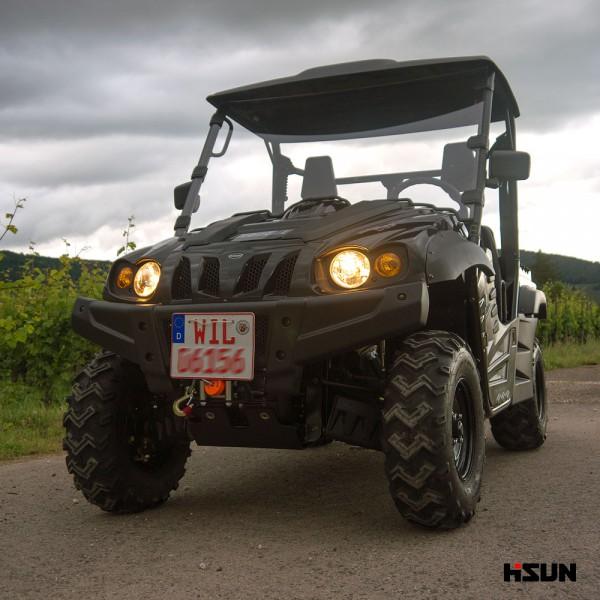 UTV HS-500-4 von Hisun - 4x4 Allrad UTV + Seilwinde + AHK - schwarz