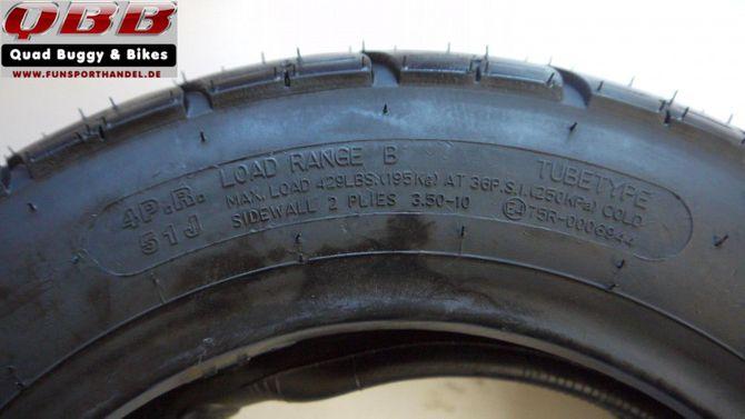 """Reifen 3,5 - 10"""" von Skyteam für ST50-6, ST125-6 Skymax oder auch als Ersatz für Honda DAX"""