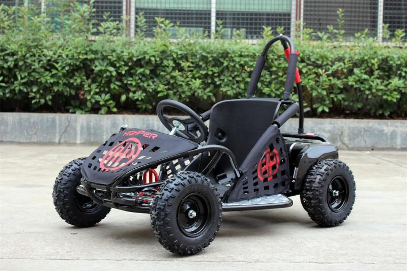 Buggy - Gokart elektrisch mit 1000 Watt - 48 Volt - drosselbar - schwarz – Bild 2