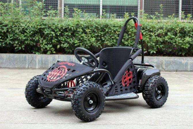 Buggy - Gokart elektrisch mit 1000 Watt - 48 Volt - drosselbar - schwarz