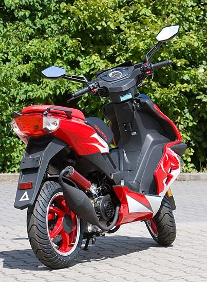 Motorroller Benero GT-50 Supersport - 2 TAKT- ORANGE - Power Scooter – Bild 6