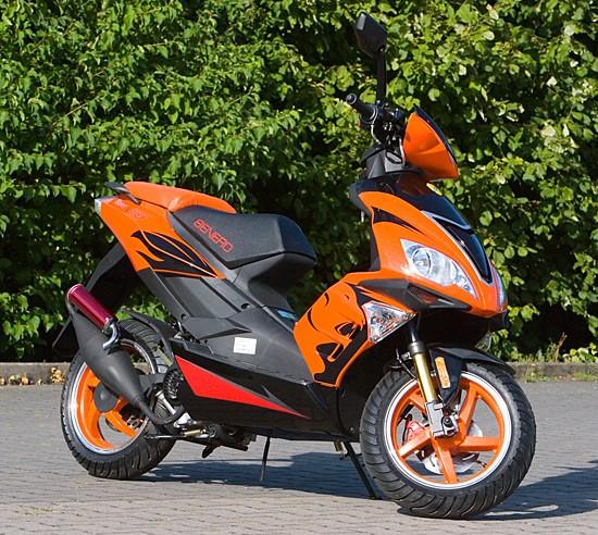 Motorroller Benero GT-50 Supersport - 2 TAKT- ORANGE - Power Scooter – Bild 1
