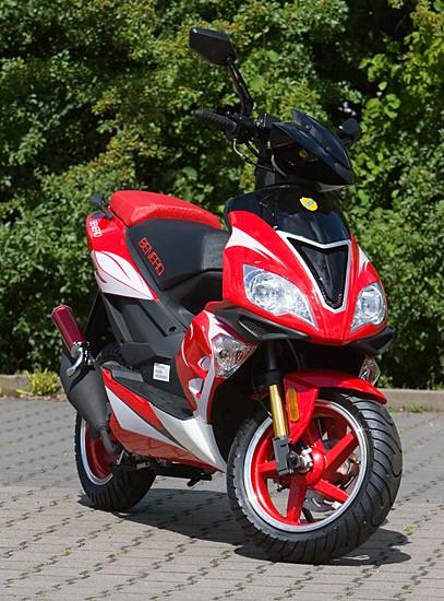 Motorroller Benero GT-50 Supersport - 2 TAKT- ORANGE - Power Scooter – Bild 5