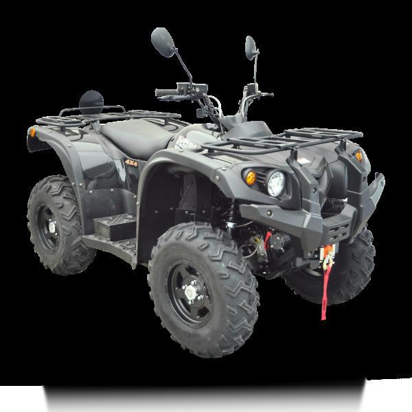 Automatik Quad Atv - 4WD Allrad + AHK + Seilwinde - HISUN 400 - 10 - SCHWARZ – Bild 4