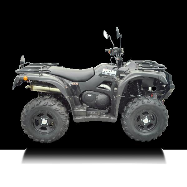 Automatik Quad Atv - 4WD Allrad + AHK + Seilwinde - HISUN 400 - 10 - SCHWARZ