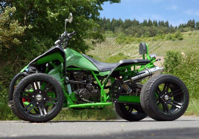 250 ccm Racing Quad Speedslide Xtreme - NEU 2015 - Grün Carbon – Bild 3