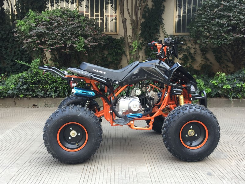 kinder quad 125ccm speedy hawk 8 reifen orange limited quad atv kinder quads