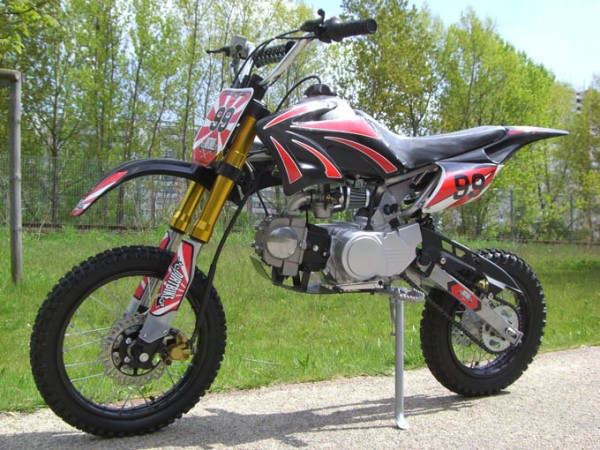 dirtbike cross bike 125 ccm 17 14 reifen pocket bike. Black Bedroom Furniture Sets. Home Design Ideas
