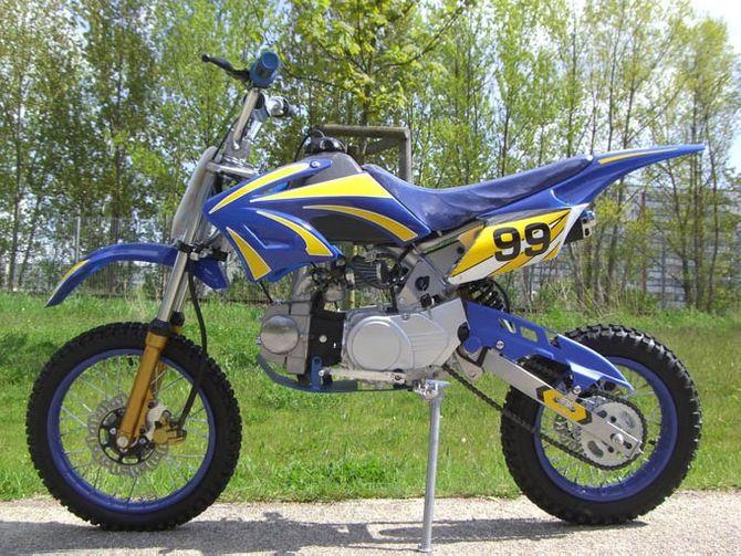 Dirtbike Cross Bike 125 ccm 17/14 Reifen