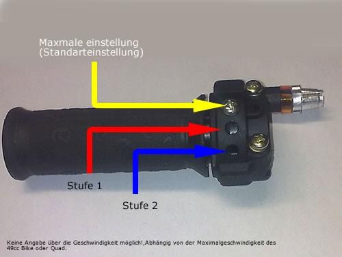 Drosselbarer Drehgasgriff / Gasgriff für Kinderquad Pocketbike Dirtbike 50ccm 2 Takt