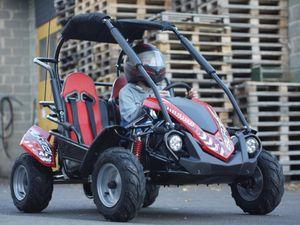 Kinderbuggy GoKart Buggy für Kinder mit 200ccm 4 Takt-Motor - Automatik - 2 Sitzer - drosselbar 001