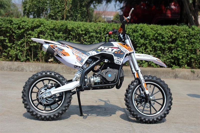 50ccm Motorrad für Kinder mit vielen Tuningteilen u. drosselbarem Gasgriff - HIGHPER 50CC – Bild 1
