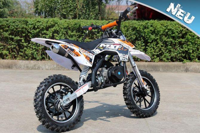 50ccm Motorrad für Kinder mit vielen Tuningteilen u. drosselbarem Gasgriff - HIGHPER 50CC