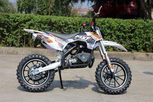 50ccm Motorrad für Kinder mit vielen Tuningteilen u. drosselbarem Gasgriff - HIGHPER 50CC 001