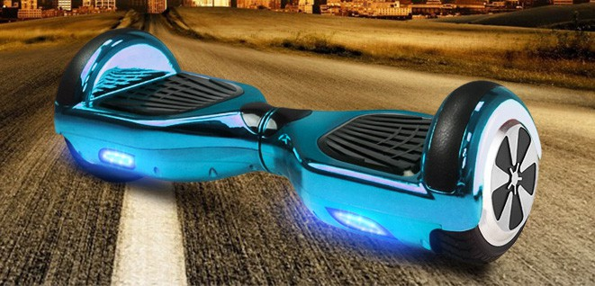 Balance Board - E-Balance Scooter - Hoverboard 600W  36V - Chrome Blau