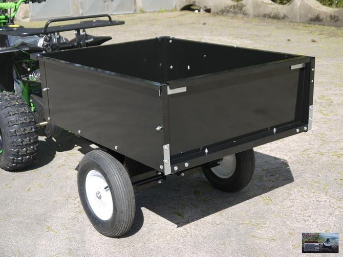 Kippbarer Transport-, Anhänger für unsere 125cc und 48V Kinder -ATVs, -UTVs, -Quads