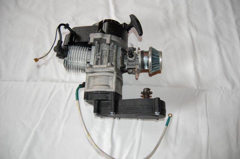 50ccm 2 Takt Motor mit E-Starter Kinderquad Motor 49cc komplett – Bild 3