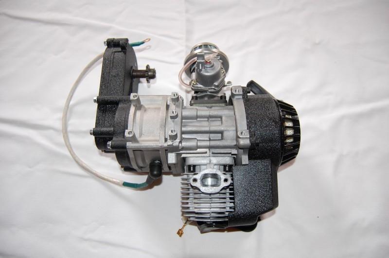 50ccm 2 Takt Motor mit E-Starter Kinderquad Motor 49cc komplett – Bild 6