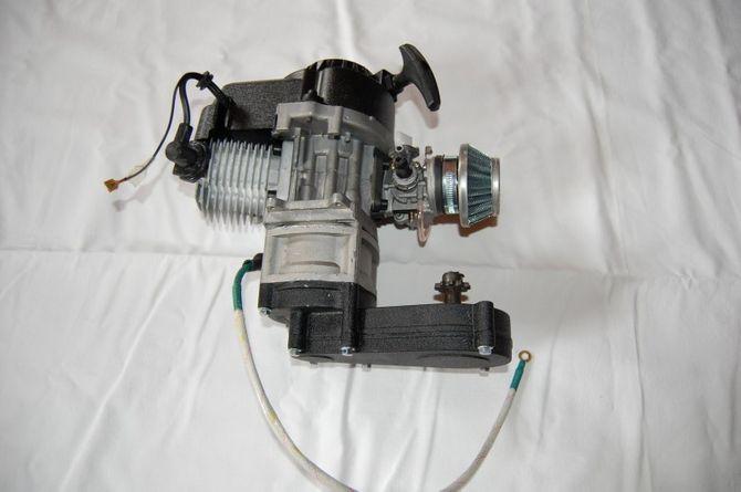 50ccm 2 Takt Motor mit E-Starter Kinderquad Motor 49cc komplett