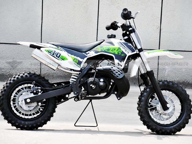 Kinder Cross Motorrad 50ccm 2 Takt - 10 Zoll Reifen Sportgerät mit Power – Bild 2